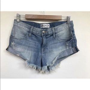 Wildfox Jeans The Day Trip Cut Off Shorts